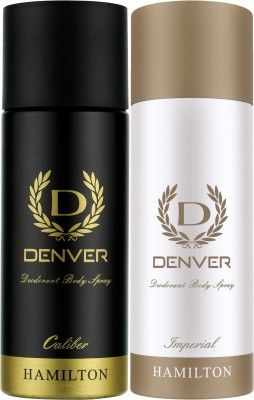 Denver Caliber and Imperial Combo (Pack of 2) Deodorant Spray  -  For Men(330 ml, Pack of 2)