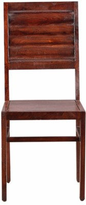 HomeTown Ripples Solid Wood Dining Chair(Set of 2, Finish Color - Nut Brown & Gloss Finish)