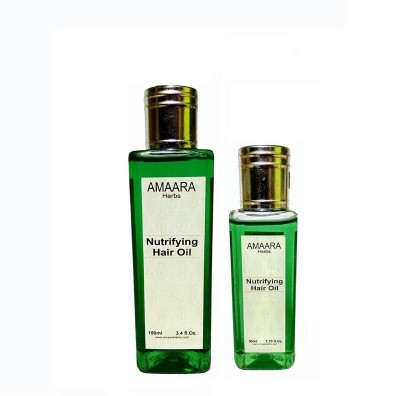 Amaara Herbs Nutrifying Hair Oil (100ml) with free (50ml) Hair Oil(150 g)  available at flipkart for Rs.155