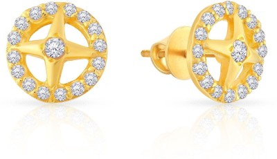 Malabar Gold and Diamonds Yellow Gold 22kt Stud Earring at flipkart