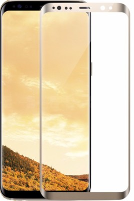 Maxpro Edge To Edge Tempered Glass for 5D Tempered Glass Samsung Galaxy S8 Plus Gold (Full Screen Coverage)(Pack of 1)