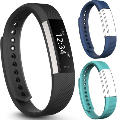 fbandz Altum HR Fitness Tracker + Heart Rate + 2 Extra Color Replacement Bands Steps Distance Calories Call Alert iOS & Android App(Blue, Teal) at flipkart