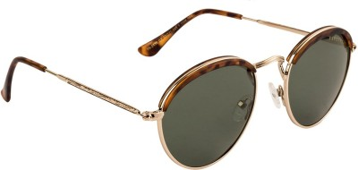 Farenheit Round Sunglasses(Green) at flipkart