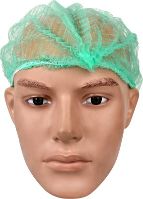 Ashwa Group Pack of 50 Green Disposable Bouffant Surgical Head Cap(Disposable)  available at flipkart for Rs.135