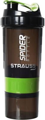 Strauss Spider Bottle 500 ml Sipper, Shaker(Pack of 1, Green)