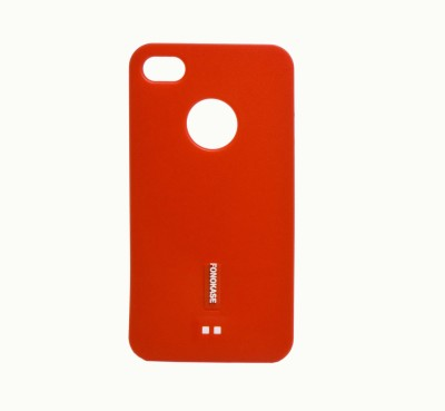 Fonokase Back Cover for iPhone 4S(Red, Silicon)