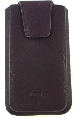 Emartbuy Pouch for Intex Aqua Speed HD(Black Classic, Artificial Leather)