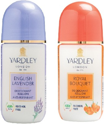 Yardley London Royal Bouquet and English Lavender Deodorant Roll-on  -  For Men & Women(100 ml, Pack of 2)  available at flipkart for Rs.369