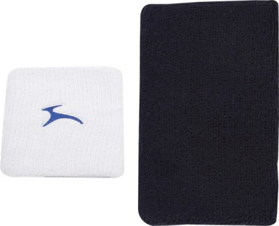 JJ Jonex Gym PURE COTTON TOWELED Wrist Band 1pc and knee cap 1pc combo Fitness Band Multicolor, Pack of 2