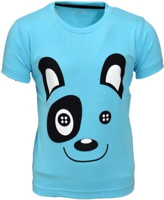 Crux & Hunter Boys & Girls Graphic Print Cotton T Shirt(Blue, Pack of 1)