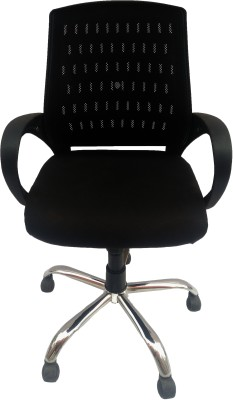 Sogno Fabric Office Arm Chair(Black) at flipkart