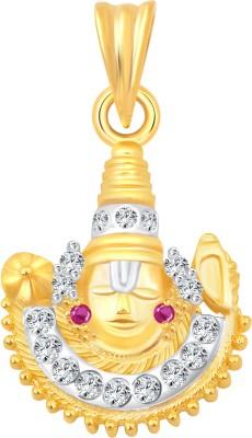 Vighnaharta Jai Ambe Mata 18K Yellow Gold Cubic Zirconia Alloy Pendant