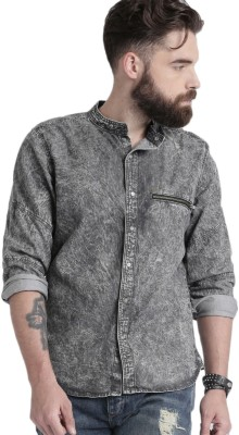 Roadster Men's Solid Casual Grey Shirt at flipkart