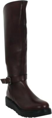 Salt N Pepper 15-785DENIAWINEWOMENBOOTS Boots For Women(Maroon) at flipkart