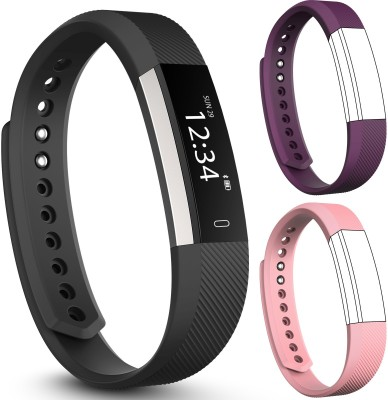 fbandz Altum HR Fitness Tracker + Heart Rate + 2 Extra Color Replacement Bands Steps Distance Calories Call Alert iOS & Android App(Purple, Pink) at flipkart