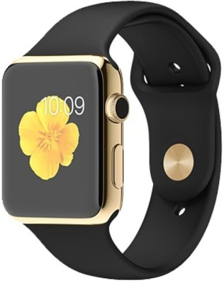 Maya Bluetooth A1 Smart Watch Golden Smartwatch(Black Strap regular) at flipkart