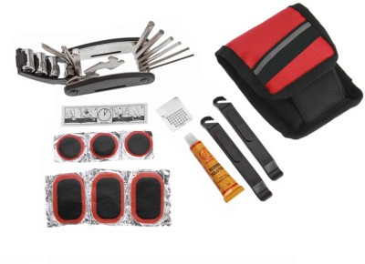 Futaba 2685OUT Cycling Bicycle Portable Tire Repair Multifunctional Kit   Red