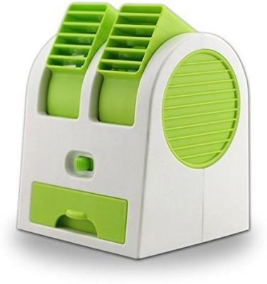 cierie Mini portable   Rechargable gtz  11 USB Fan Green cierie Mobile Accessories