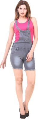 Pantof Women Grey Dungaree at flipkart