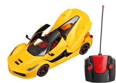 Smilemakers Ferrari Style R/C Open Door & Dicky Chargeable 1:16 Model Car(Yellow)  available at flipkart for Rs.775