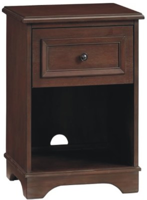 Wood Creation Engineered Wood Bedside Table(Finish Color - Walnut)