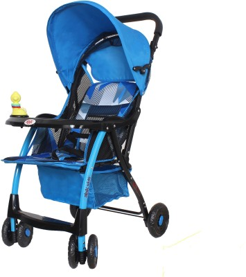 abdc kids Baby Pram & Stroller Comfy Blue Light Weight Easy Folding Pram(Multi, Blue)