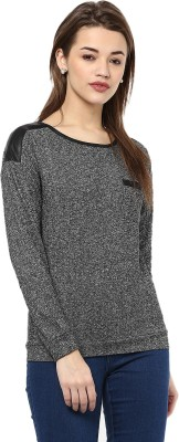La Zoire Casual Full Sleeve Printed Women Grey Top