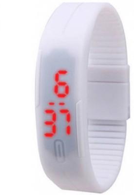 LEBENSZEIT LED RUBBER MAGNET WHITE Digital Watch Digital Watch   For Boys   Girls LEBENSZEIT Wrist Watches