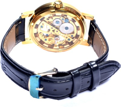 made4u Superb Golden Frame transparent display Casual only for u Watch  - For Men
