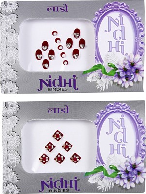 NIDHI bindi56 Forehead Multicolor Bindis(Morden Bindi)