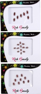 NIDHI bindi19 Forehead Multicolor Bindis(Morden Bindi)