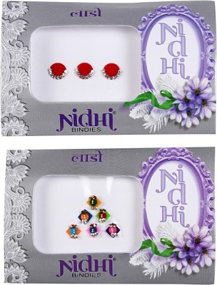 NIDHI bindi71 Forehead Multicolor Bindis(Morden Bindi)