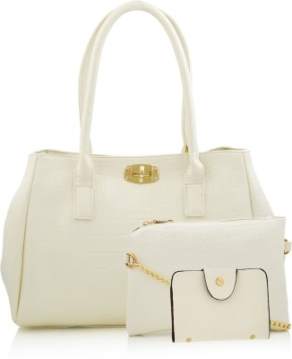 Mark & Keith Women White Hand-held Bag