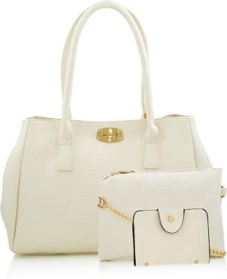 Mark & Keith Women White Hand-held Bag