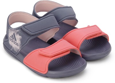 Adidas Boys & Girls Velcro Sports Sandals(Purple) at flipkart