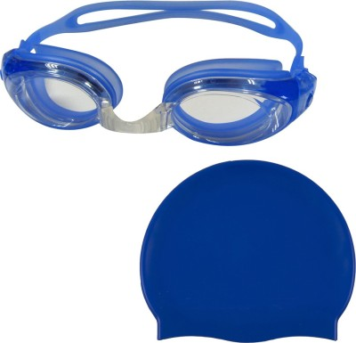 Golddust Swimming Goggles with Silicone Cap Swimming Kit