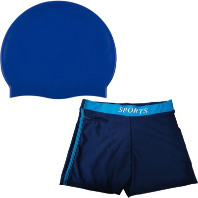 Golddust Plyr 100% Silicone Cap with Swim Shorts Swimming Kit