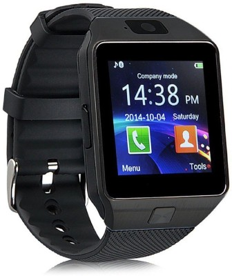 Any Time Buy DZ09 With SIM and 32 GB Memory Card Slot and Fitness Tracker Smartwatch(Black Strap Free size) at flipkart