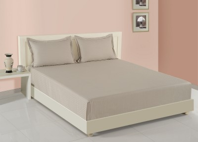Swayam 400 TC Cotton Double Plain Bedsheet(1 Doble Bed Fitted Bed Sheet And  2