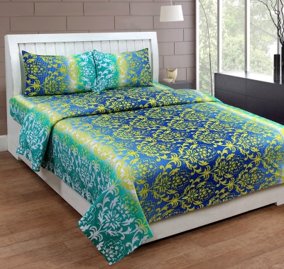 Web India International Cotton Printed Double Bedsheet(1 Double Bed-Sheet, 2 Pillow Covers, Multicolor) at flipkart