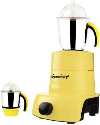 Speedway ABS Plastic YPMA17_415 600 W Mixer Grinder(Yellow, 2 Jars)
