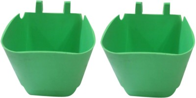 DCS Vertical Garden Wall Hanging Pot Green Colur Pack Of 2 Plant Container Set(Pack of 2, Plastic)  available at flipkart for Rs.180