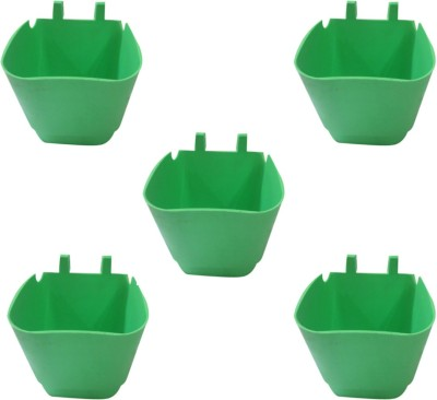 DCS Vertical Garden Wall Hanging Pot Green Colur Pack Of 5 Plant Container Set(Pack of 5, Plastic)  available at flipkart for Rs.250