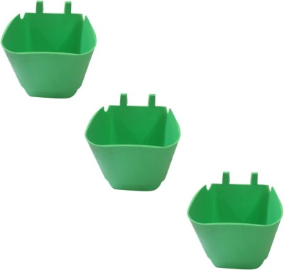 DCS Vertical Garden Wall Hanging Pot Green Colur Pack Of 3 Plant Container Set(Pack of 3, Plastic)  available at flipkart for Rs.200