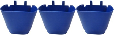 DCS Vertical Garden Wall Hanging Pot Blue Colur Pack Of 3 Plant Container Set(Pack of 3, Plastic)  available at flipkart for Rs.200