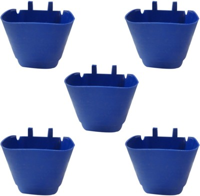 DCS Vertical Garden Wall Hanging Pot Blue Colur Pack Of 5 Plant Container Set(Pack of 5, Plastic)  available at flipkart for Rs.270