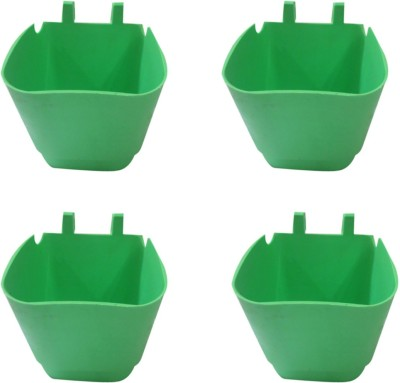 DCS Vertical Garden Wall Hanging Pot Green Colur Pack Of 4 Plant Container Set(Pack of 4, Plastic)  available at flipkart for Rs.220