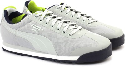 Puma Roma Basic Geometric Camo Sneakers(Grey) at flipkart
