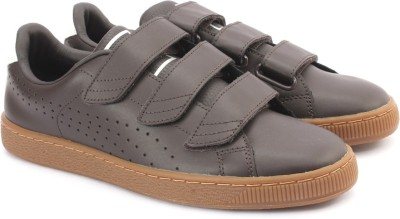 Puma Basket Classic Strap CITI Sneakers(Brown) at flipkart