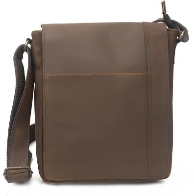 Pranjals House Brown Messenger Bag Pranjals House Bags, Wallets   Belts